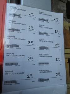 Lisää kipsilevyjen hintoja. K-rauta Võru 19.5.2013.