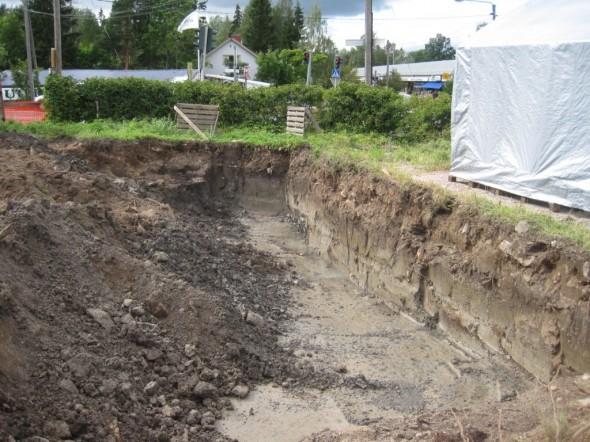 Kuopan kaivaminen alkoi vuosi sitten eli 07.08.2012.