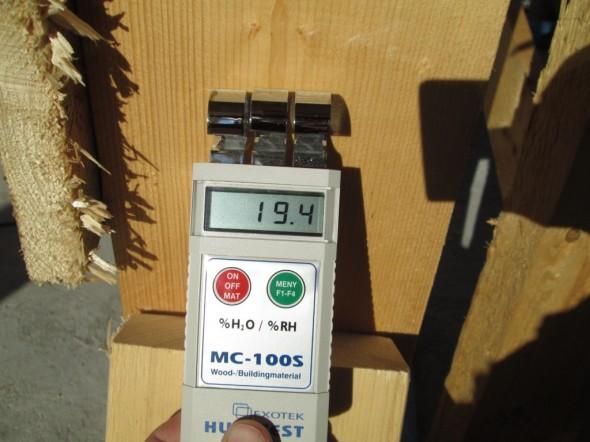 Koolauspuun kosteus lauantaina 14.9.2013 klo 8:45 aamulla.