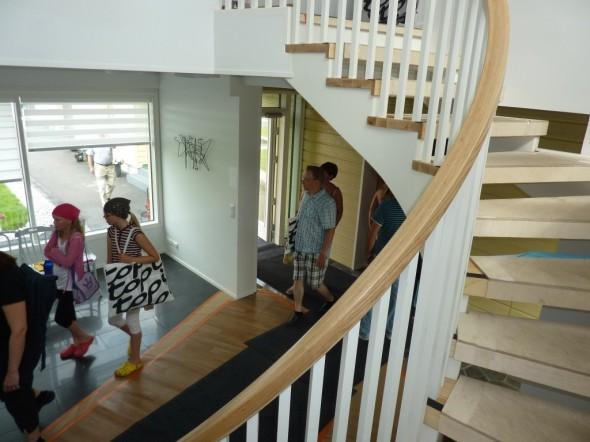 Kokkolan asuntomessut 2011. Värisävyt portaissa aika kohdallaan.