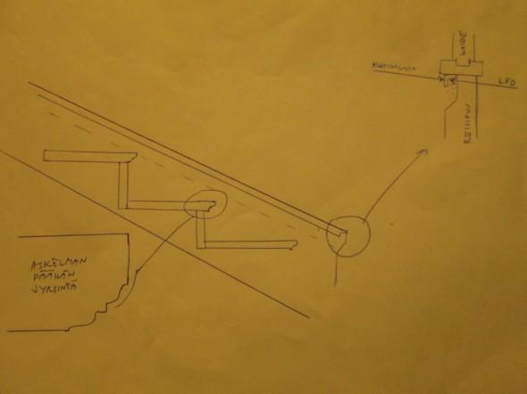 Askelmien alapintoihin ei tulekaan LED-valonauhoja poikittain, vaan tuleekin jyrsimällä tehty koristelu.
