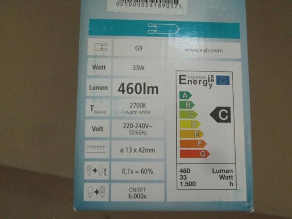 Energialuokka yms. tiedot lampusta kerrottiin. Kai ne on sitten tärkeämpiä tietoja kuin suojaetäisyys, jos suojaetäisyyttä tarvitsee olla?