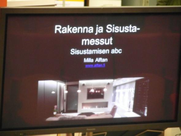 """Milla Alftanin luennolla """"Sisustamisen abc""""."""