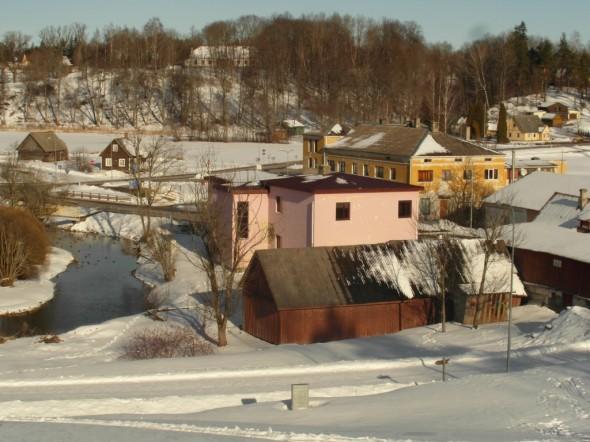 Rõugen kylän keskustaa.
