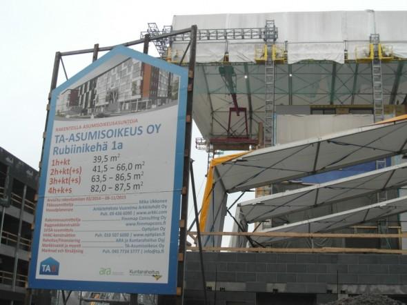 TA-Asumisoikeus asuntoja olisi tarjolla Euroopan suurimmasta puukerrostalosta.