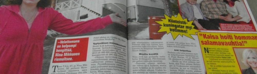 Nina Mikkola 7-päivää lehdessä 19.3.2015.