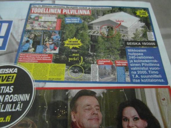 Yleiskuva Mikkoloiden Pilvilinnasta 7-päivää lehden sivulta.