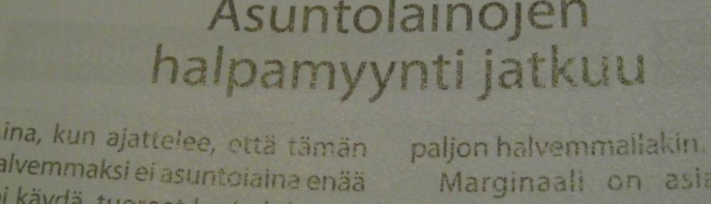 Asuntolainoja käsittelevän artikkelin otsikko Taloustaito 3/2015 -lehdessä, sivulla 32.
