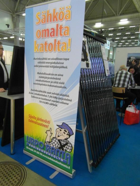 Salolaisen Areva Solar Oy:n ständillä.